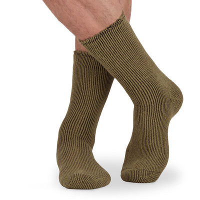 key features Men's Thermal Insulated Outdoor Hiking Boot Crew Socks For Cold Weather - Camel