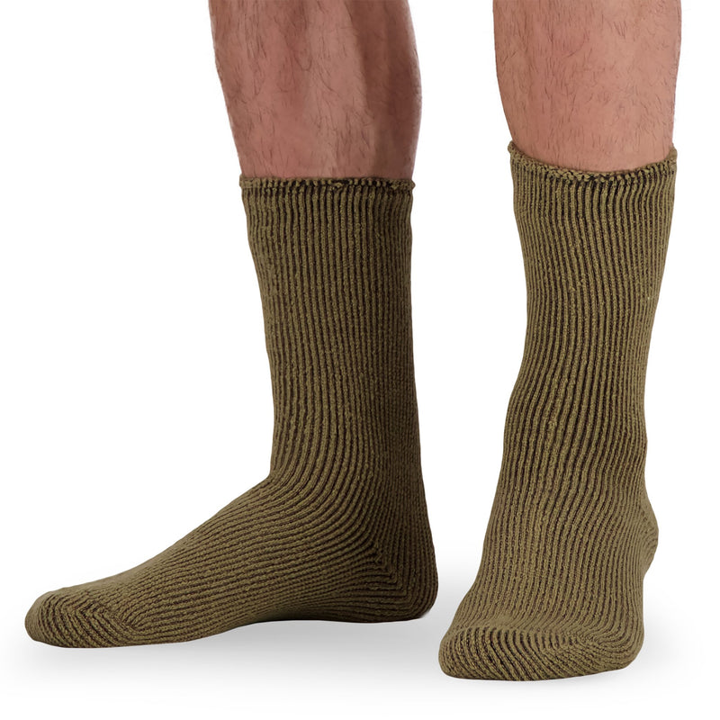 Men's Thermal Insulated Outdoor Hiking Boot Crew Socks For Cold Weather - Camel