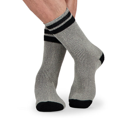 key features Men's Thermal Outdoor/Hiking Socks - Gray/Black