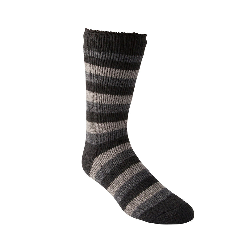 Men's Thermal Insulated Outdoor/Hiking Boot Socks for Cold Weather - Gray/Black