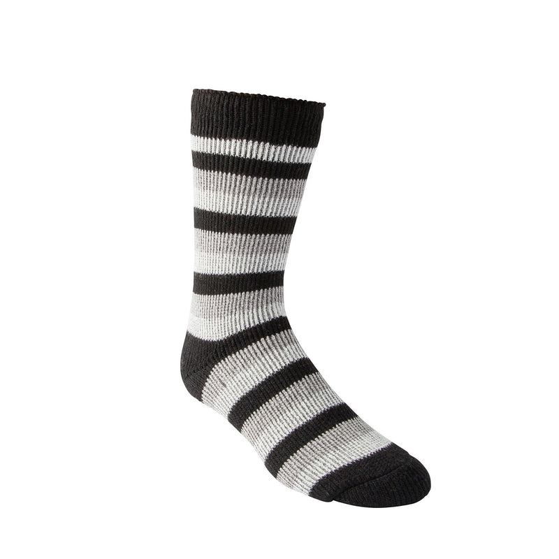 Men's Thermal Insulated Outdoor/Hiking Boot Socks for Cold Weather - Charcoal/White