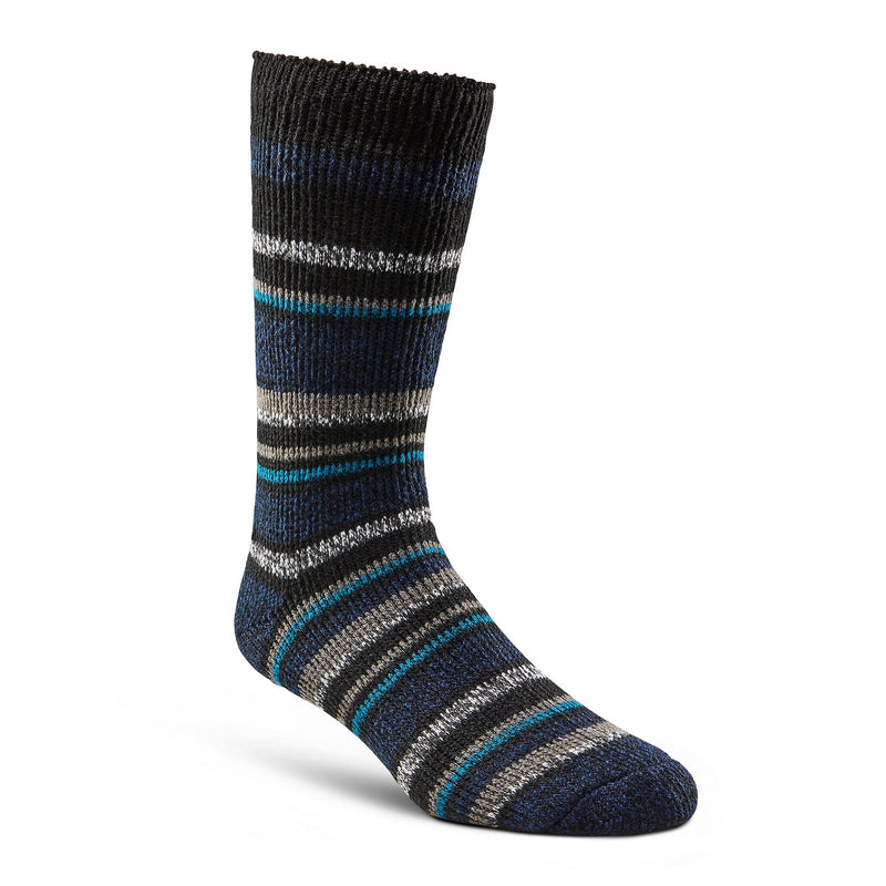 Men's Thermal Insulated Outdoor/Hiking Boot Socks for Cold Weather - Blue/Black