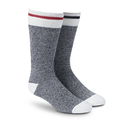 key features Men's Lightweight Thermal Insulated Outdoor/Hiking Boot Socks for Cold Weather (2-Pack) - Gray Melange