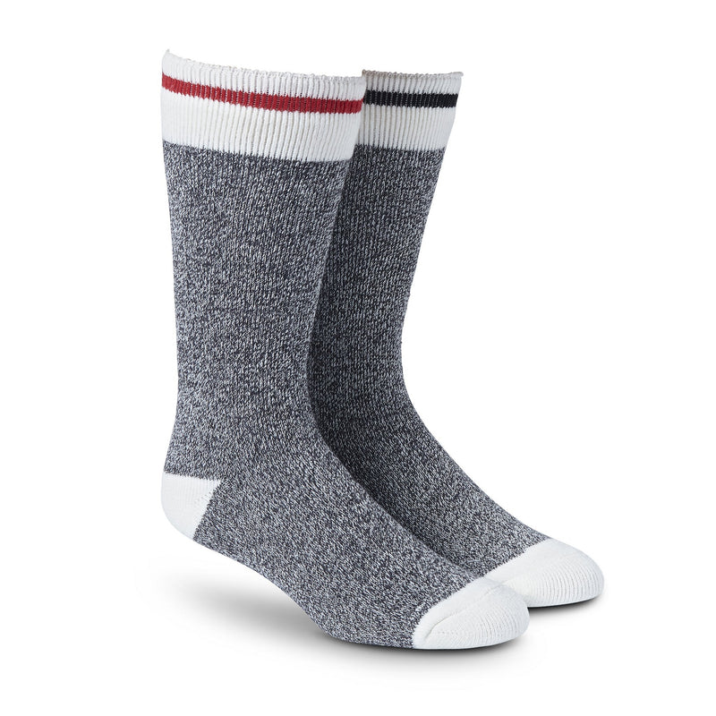 Men's Lightweight Thermal Insulated Outdoor/Hiking Boot Socks for Cold Weather (2-Pack) - Gray Melange