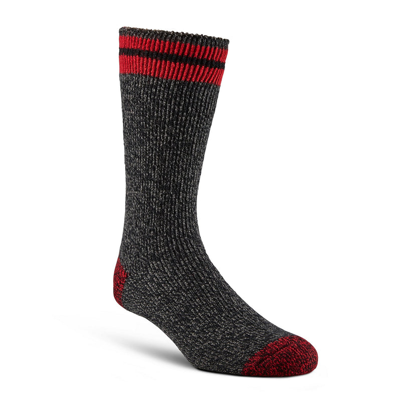 Men's Reinforced Thermal Insulated Outdoor/Hiking Boot Socks for Cold Weather - Red