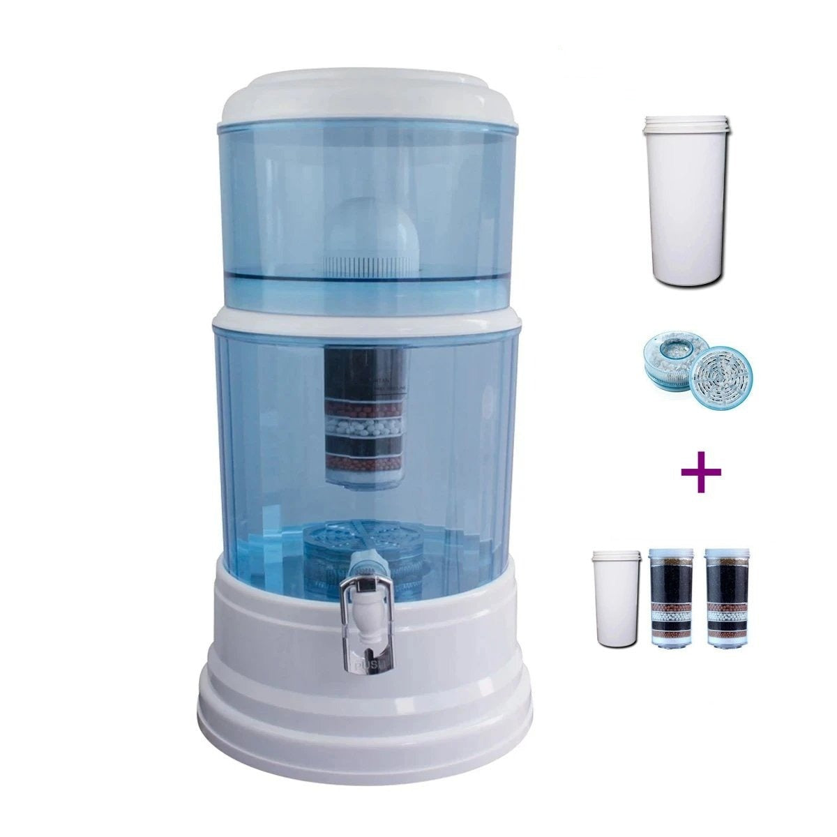 Aimex MDM Water Purifier 20L Dispenser + 8 Stage Water Filter + Free One White Filter - MDMAustralian
