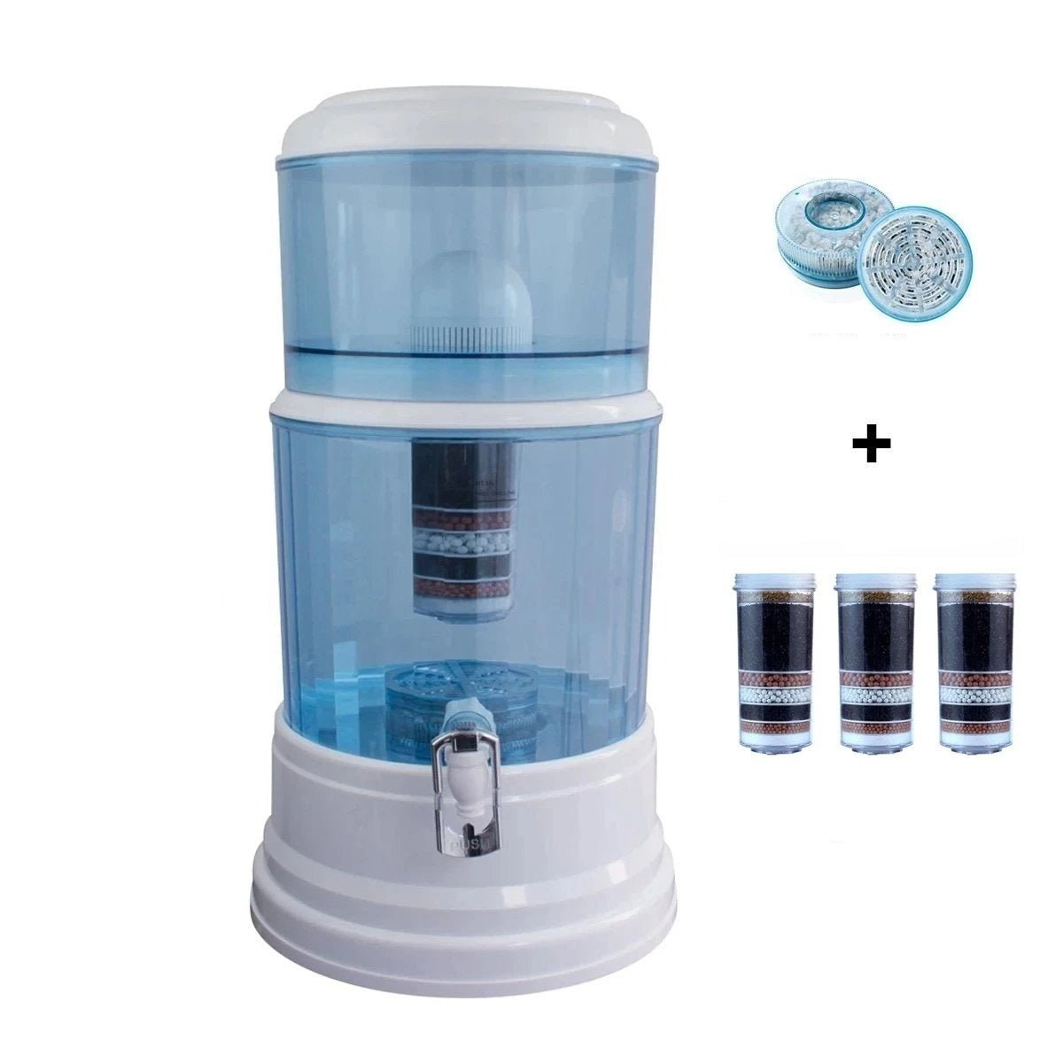 20L Aimex Water Purifier + 3 X 8 Stage Water Filter + Maifan Stone Dispenser - MDMAustralian