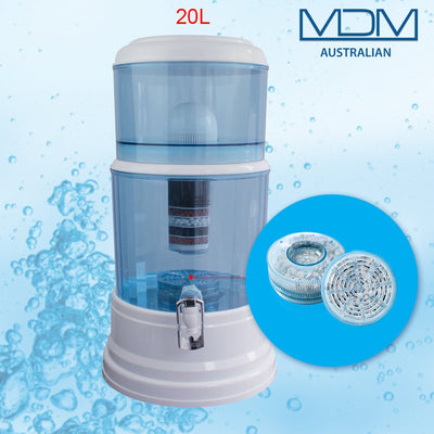 Aimex MDM Water Purifier 20L Dispenser + 3 x 8 Stage Water Filter + Maifan Stone - MDMAustralian