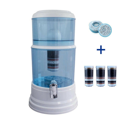 Aimex MDM Water Purifier 20L Dispenser + 3 x 8 Stage Water Filter + Maifan Stone