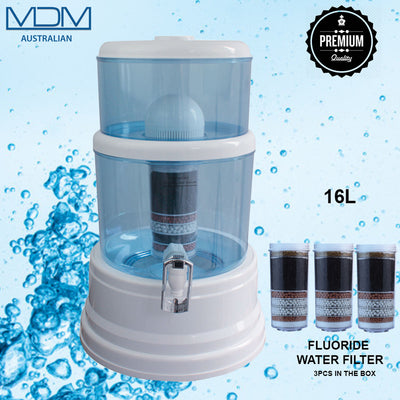 16L Water Dispenser with X 3 8 Stage Fluoride Water Filter - MDMAustralian