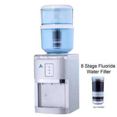 Benchtop Aimex Water Cooler hot cold Ambient Fluoride Filter Silver - MDMAustralian