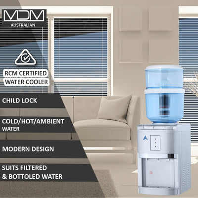 MDM Silver Benchtop Water Cooler  with 8 Stage Water Filter