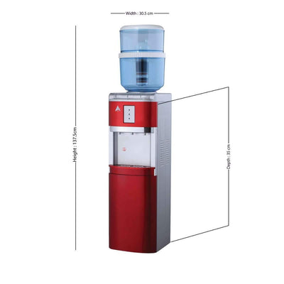 Water Cooler Dispenser Stand hot cold Ambient Taps Filter Purifier 20L Bottle Aimex Red - MDMAustralian