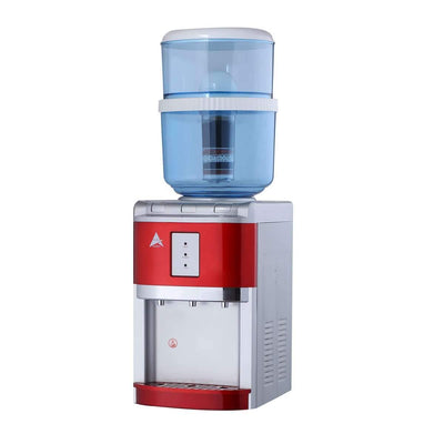 Benchtop Water Cooler hot cold with Fluoride Reduction Control Filter Red - MDMAustralian