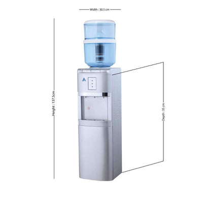 Water Cooler Dispenser Stand hot cold Ambient Taps Filter Purifier 20L Bottle Aimex Silver - MDMAustralian
