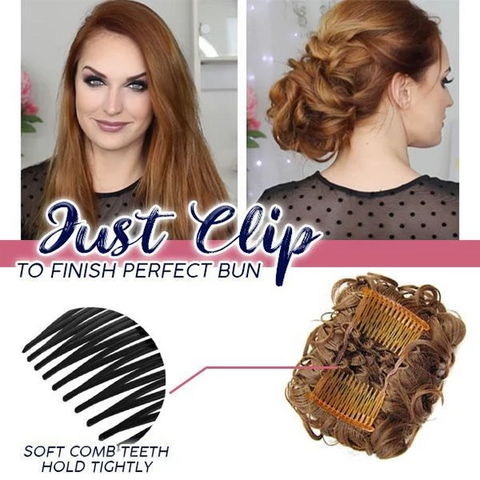 Wispy Curls Clip-On Hair Piece