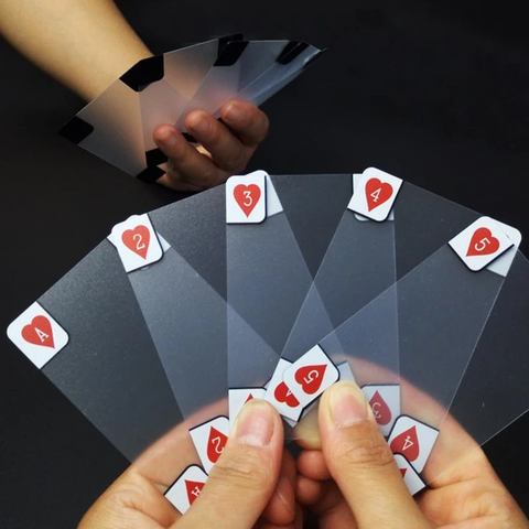 New Transparent Waterproof PVC Poker Playing Cards