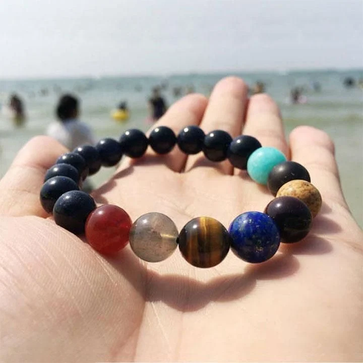NATURAL STONE GALAXY BRACELET (WITH FREE NECKLACE) (BUY 2 SAVE EXTRA $11.99!!!)