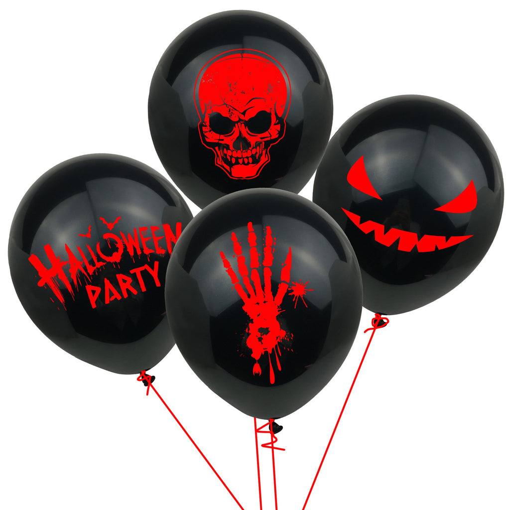 Blood Handprint Skull Grimace Party Decoration Balloon