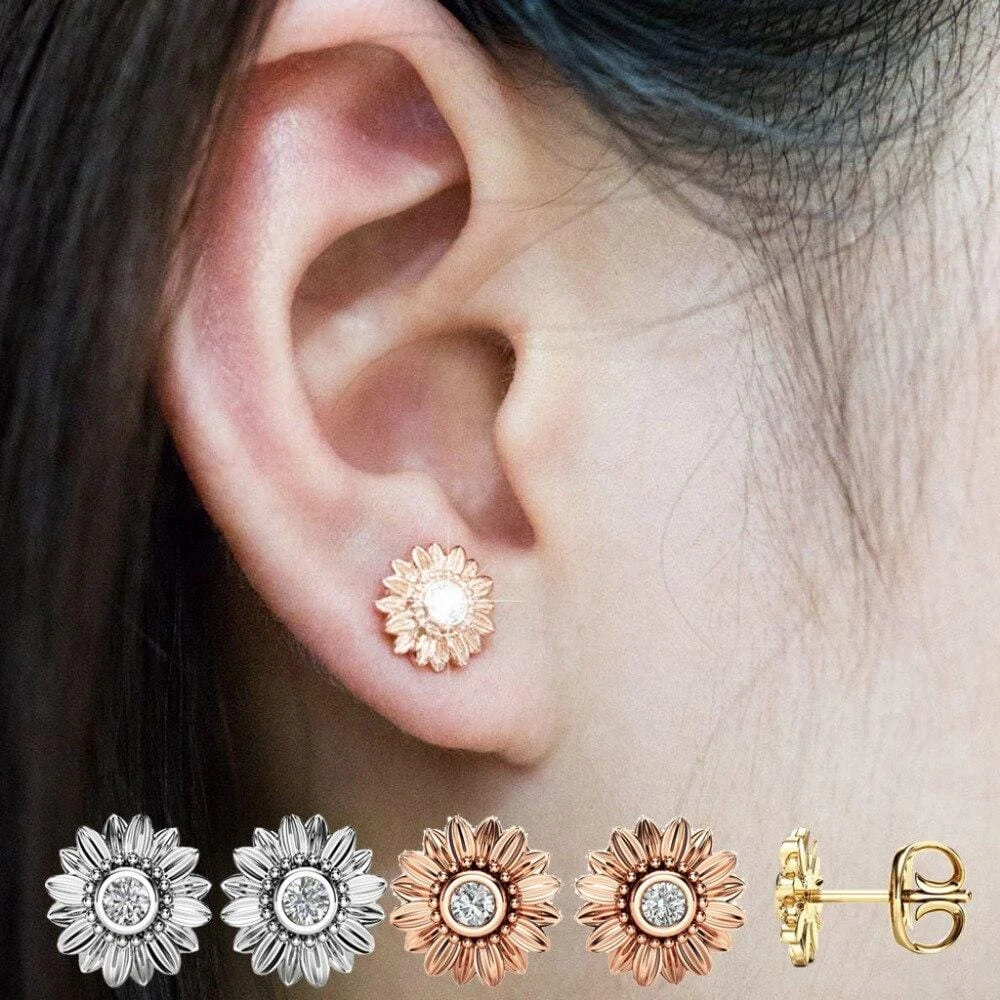Sunflower Studded Earrings