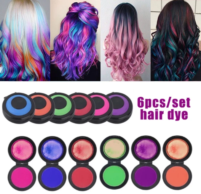 【Halloween Sale】Fast Hair Coloring Set,For All Colors of Hair (6 Colors)