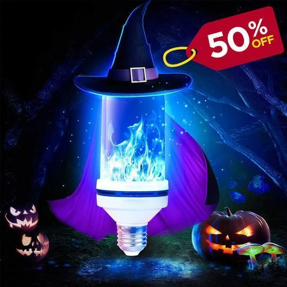Halloween Sale 50%OFF🔥LED Gravity Effect Fire Light Bulbs-🔥🔥【Buy 5 Get 1 Free】