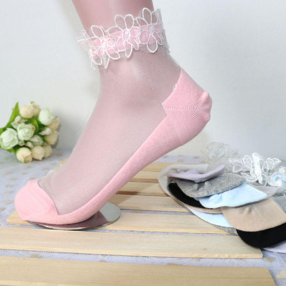 Fashion Women Lace Flower Socks