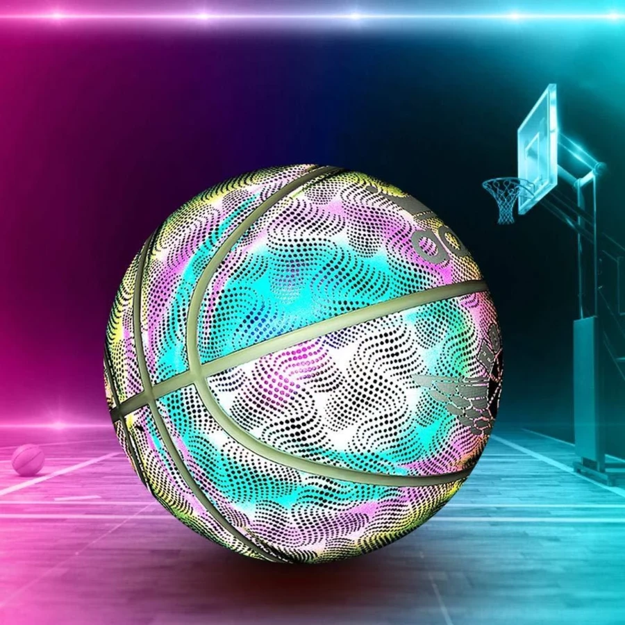 [FREE SHIPPING]Amazing Holographic Glowing Reflective Basketball