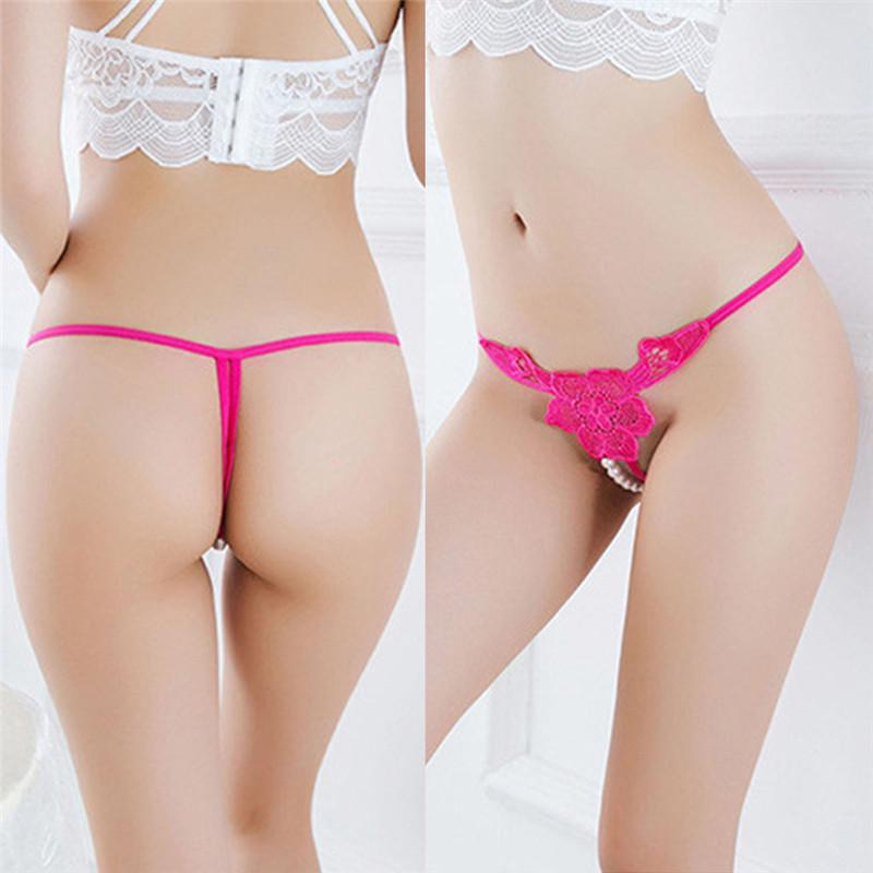 Sexy Underwear Low-Rise Flowers Thong