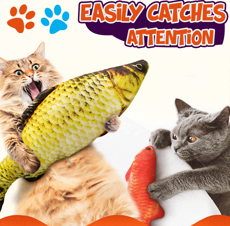 (Black Friday - 50% OFF) Cat Kicker Fish Toy