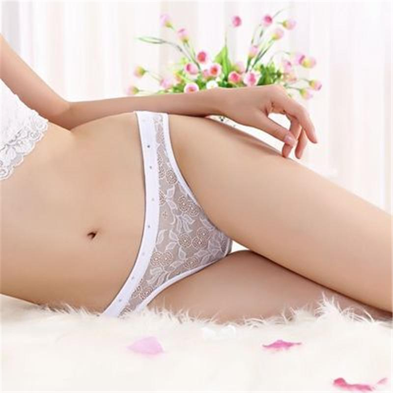 Lace Sexy Crotchless Thongs G-string Panties
