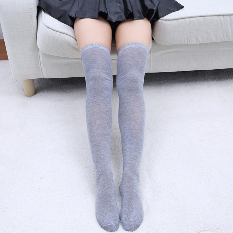 Knitted Striped Over Knee Stockings