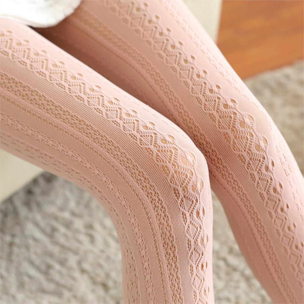 Winter Stovepipe Shaping Lace Vertical Strips Pantyhose