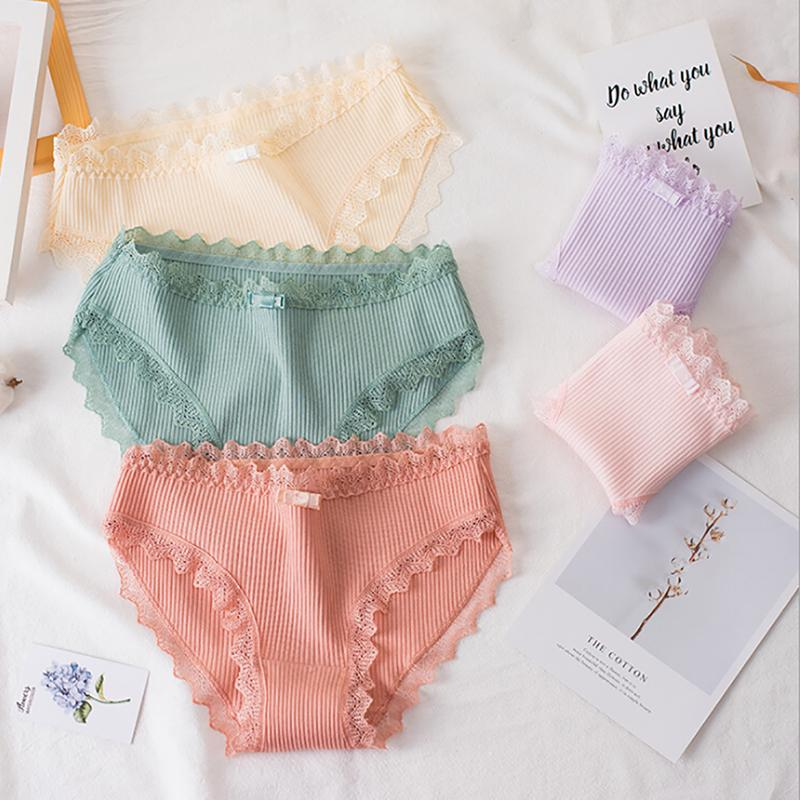 Lace Breathable Bowknot Seamless Briefs