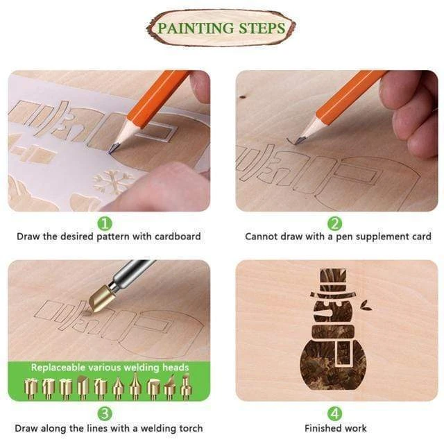 New Year Promotion-【50%OFF】Wood Burning Pyrography Kit