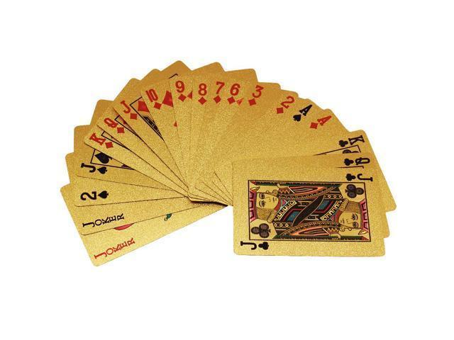 24K Karat Gold Foil Plated Poker Playing Card with Certificate EU Pattern
