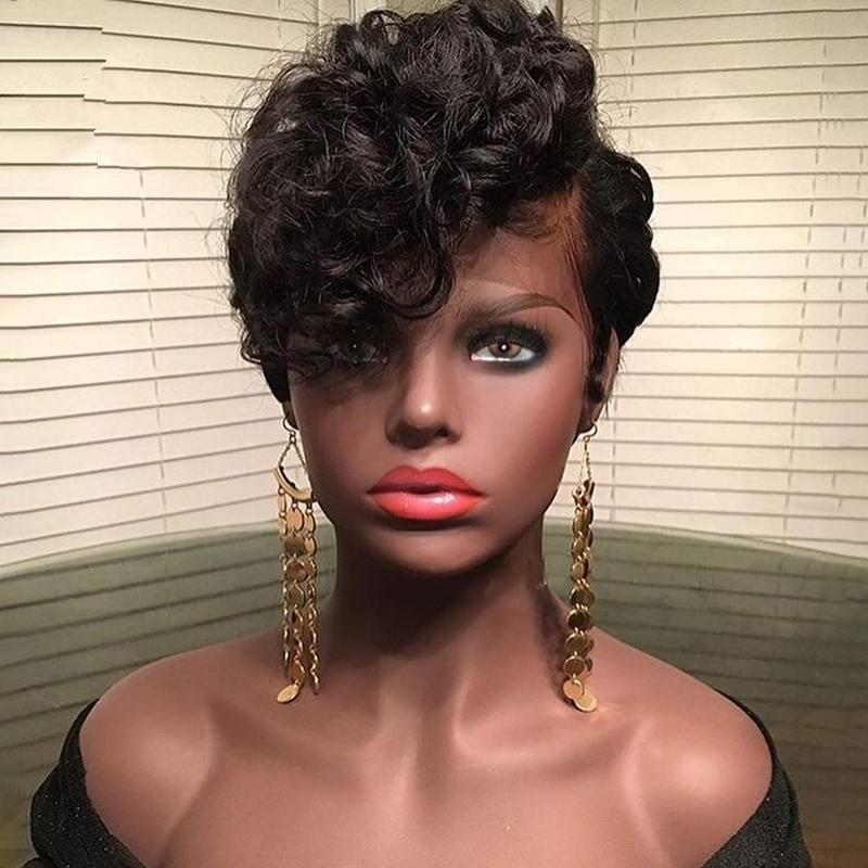 Brazilian Remy Bouncy Curly Short Wig