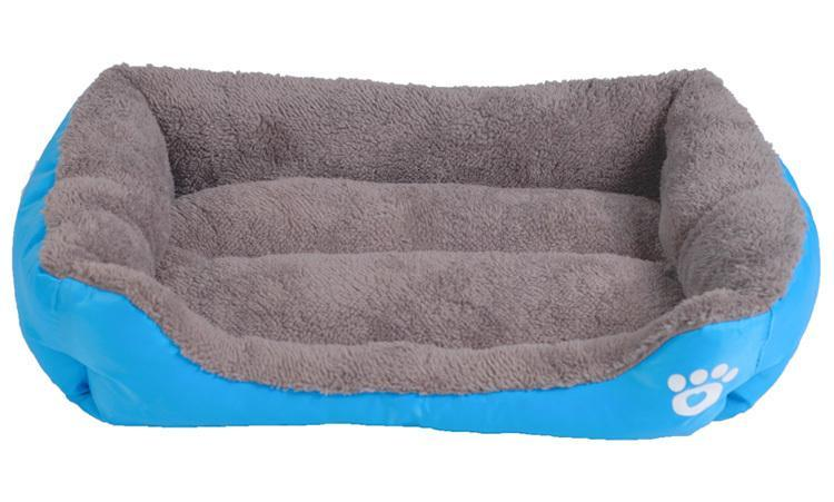 S-3XL 9 Colors Paw Pet Sofa Dog Beds Waterproof Bottom Soft Fleece Warm Cat Bed House Petshop cama perro