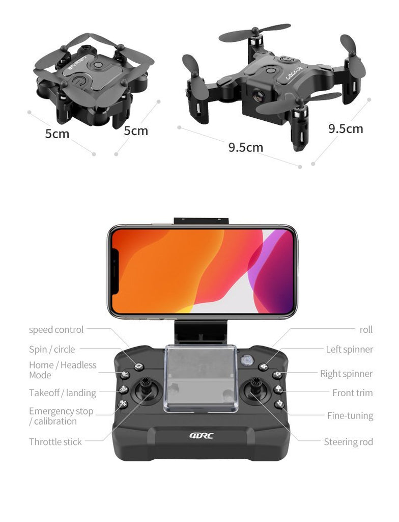 Mini Drone With/Without HD Camera Hight Hold Mode RC Quadcopter RTF WiFi FPVQuadcopter Follow Me RC Helicopter Quadrocopter Kid'