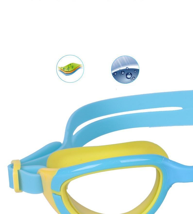 Children's Swimming Goggles Colorful Silica Gel Kids Girls Boys Swim Glasses Pool Bathing Waterproof Anti-Fog Safety Ear Plugs