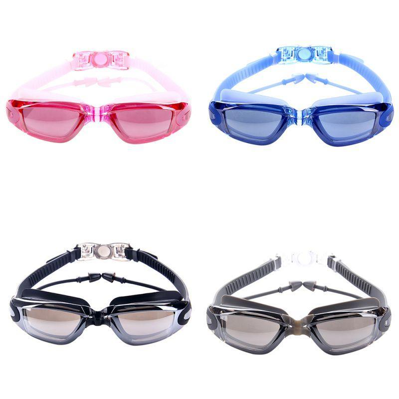 Professional Silicone Swimming Goggles Anti-fog UV Swimming Glasses With Earplug for Men Women Water Sports Eyewear
