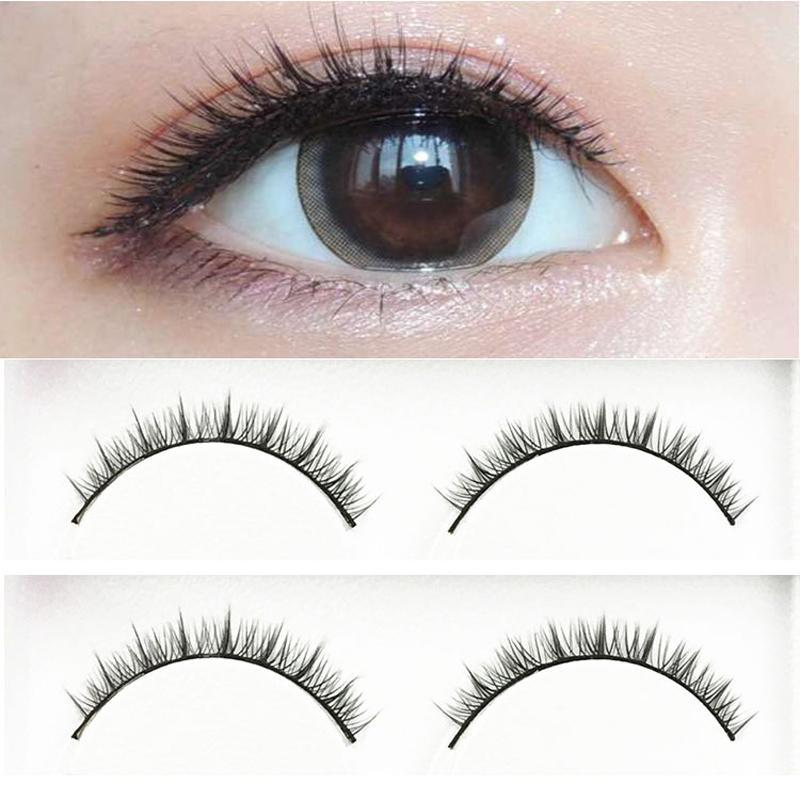 Fashion Natural Short Eyelashes Nude Makeup
