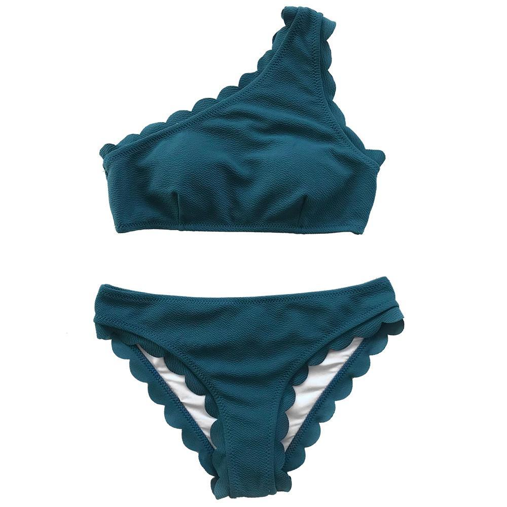 Women Solid Sexy Two Pieces Swimwear