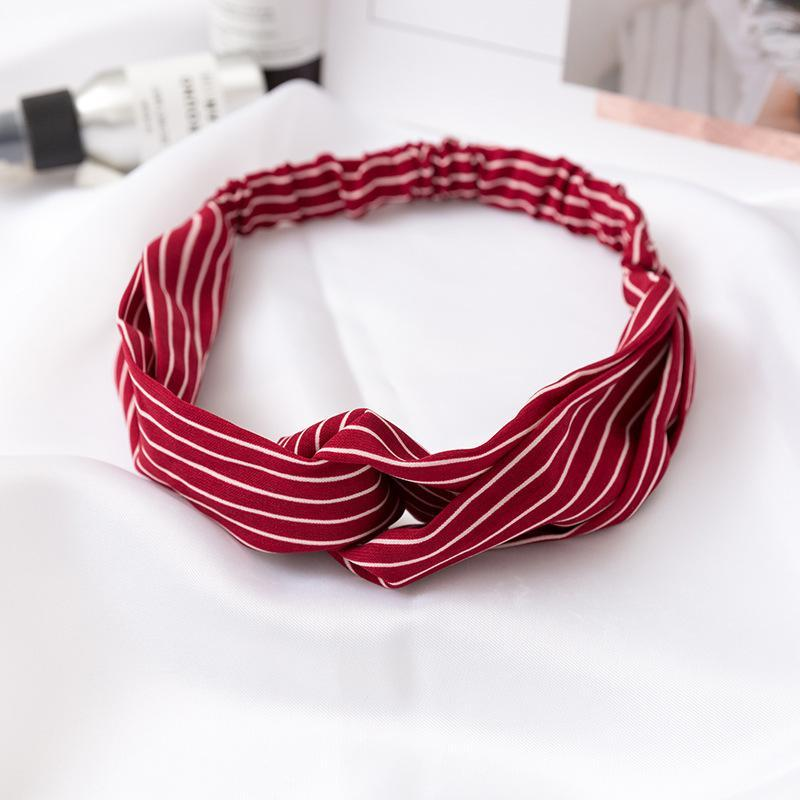 Fashion Stripe Twist Headband Turban Women Sport Yoga Bandana Head Wrap Stretch Strips Headwear Hair Accessories Hot Sale