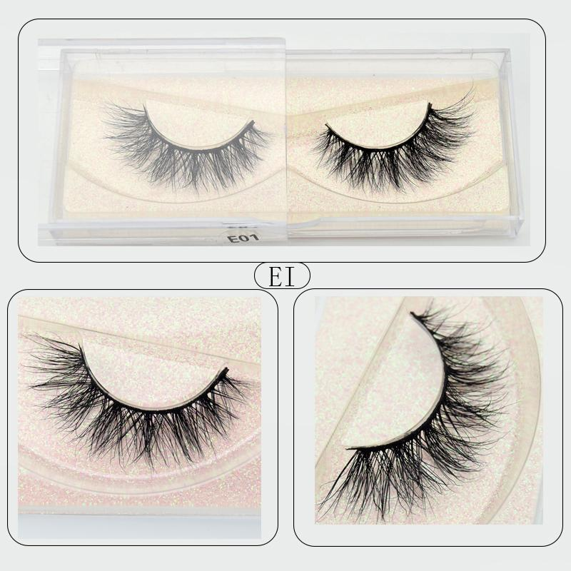 Mink Eyelashes Crisscross Natural Handmade False Eyelashes