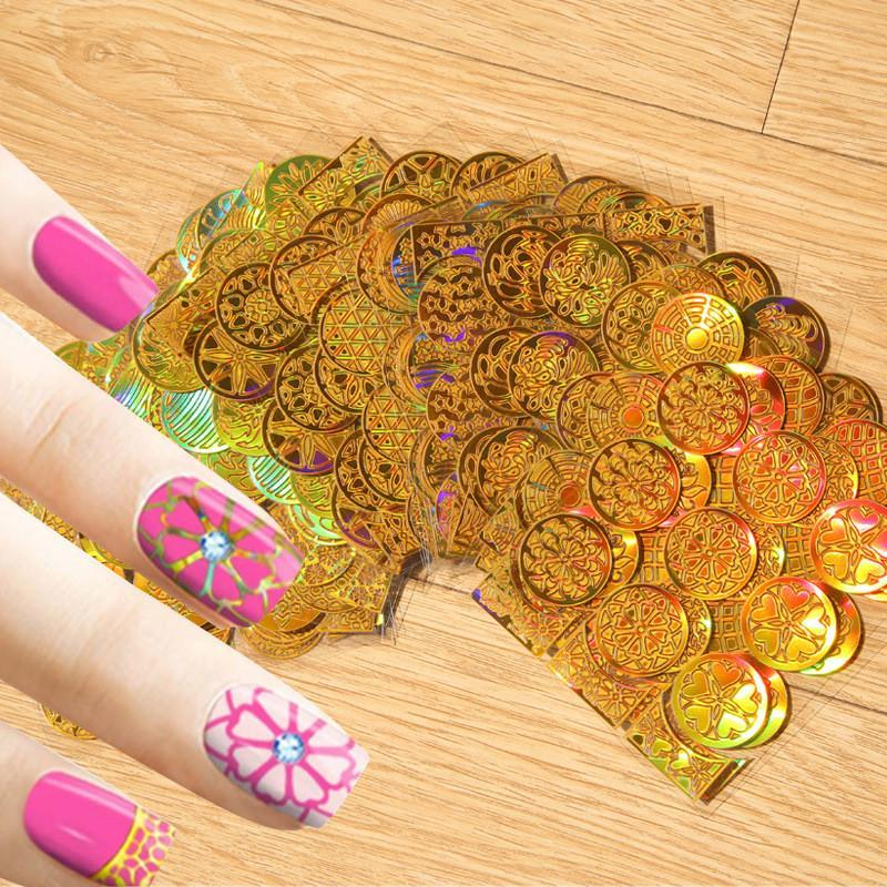 24Pcs/ Set Reusable Nail Art Stencils