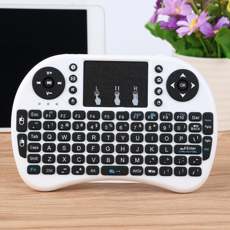Portable Mini Wireless Keyboard 3 Colors Touchpad Air Mouse Touchpad for Android TV Box PC Pad 2017 Hot Selling 2 colors