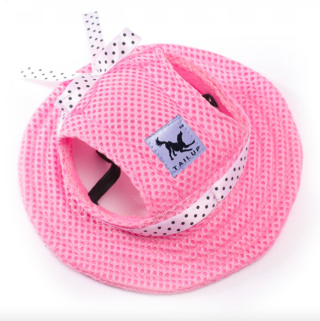 Pet Dog Cap Tailup Summer Cloth Mesh Breathable Pet Sun Hat Canvas For Small Dog Pet Products
