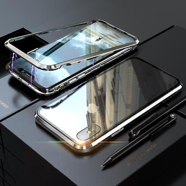 Newer Version Tempered Glass Magnetic Case For iPhone