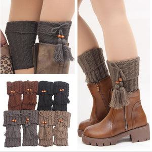 Knitted Wool Hollow Boots Socks